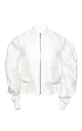 Medium antonio berardi white off white bomber jacket