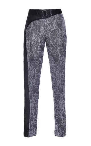 Medium antonio berardi black grey and black tapered pant