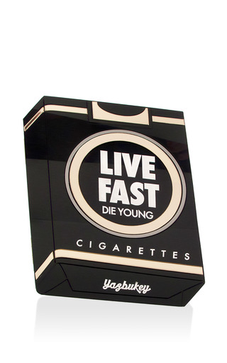 Medium yaz bukey black le live fast plexiglass clutch
