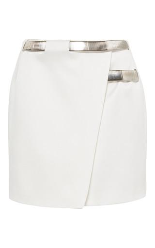 Medium mugler white off white bonded satin skirt