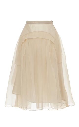 Medium rochas pink blush chiffon organza bustle back skirt
