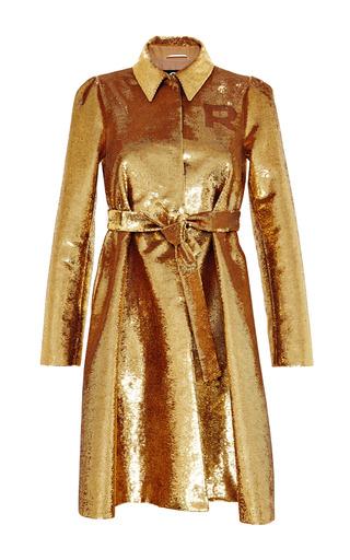 Medium rochas gold sequined varsity overcoat