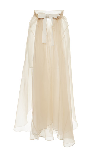 Medium rochas pink blush chiffon organza half wrap skirt