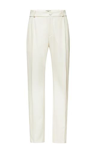 Medium bouchra jarrar white ivoire summer canvas cropped pant 3