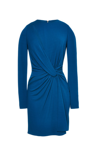 Medium elie saab blue blue jersey twisted knot mini dress