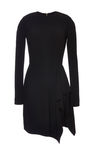 Medium elie saab black black stretch cady dress