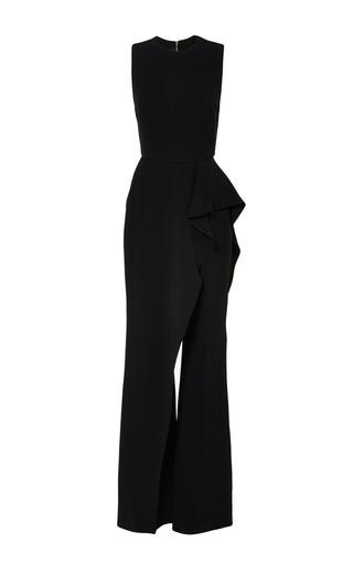 Medium elie saab black black stretch cady jumpsuit