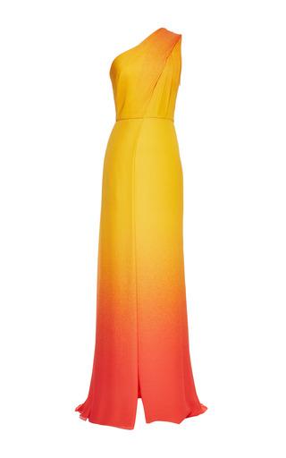 Medium elie saab orange orange degrade double silk georgette dress
