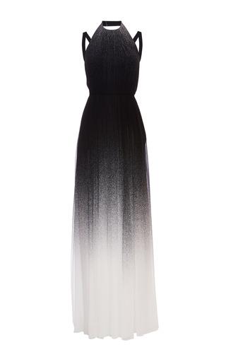 Medium elie saab multi black degrade silk georgette dress