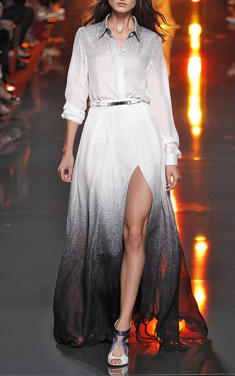 0573782ab2 Elie SaabElie Saab White Degrade Double Silk Georgette Skirt. CLOSE.  Loading. Loading. Loading