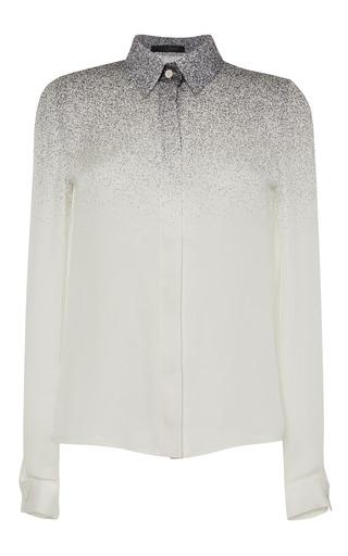 Medium elie saab multi white degrade double silk georgette blouse