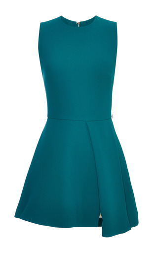Medium elie saab green green stretch cady mini dress
