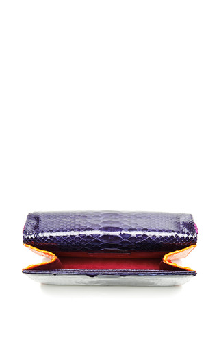 Grape/Orchid/Neon Orange Rose Clutch by METALSKIN Now Available on Moda Operandi
