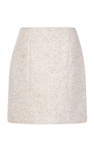 Medium mary katrantzou metallic nathair skirt in gold