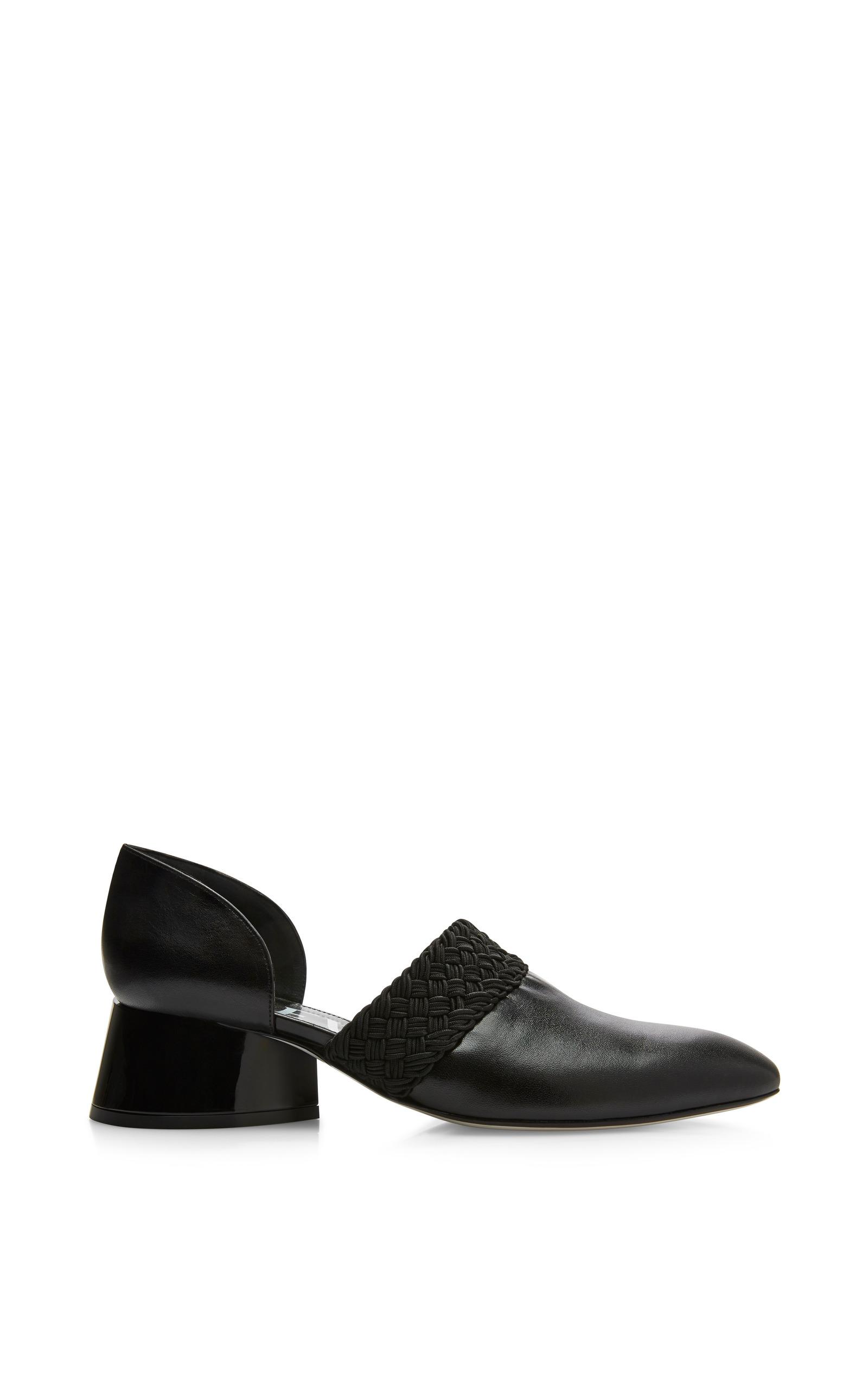 62362b61d73 LoeweBlack Lambskin Sculptural Heel Loafer. CLOSE. Loading