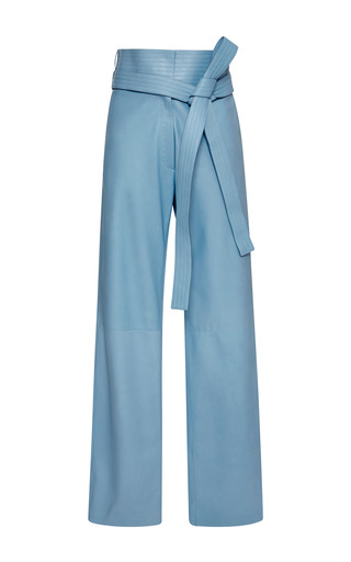 Medium loewe blue baby blue leather judo trousers