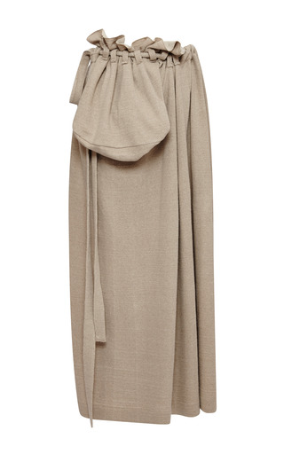 Medium loewe gold gold linen and cotton pocket skirt