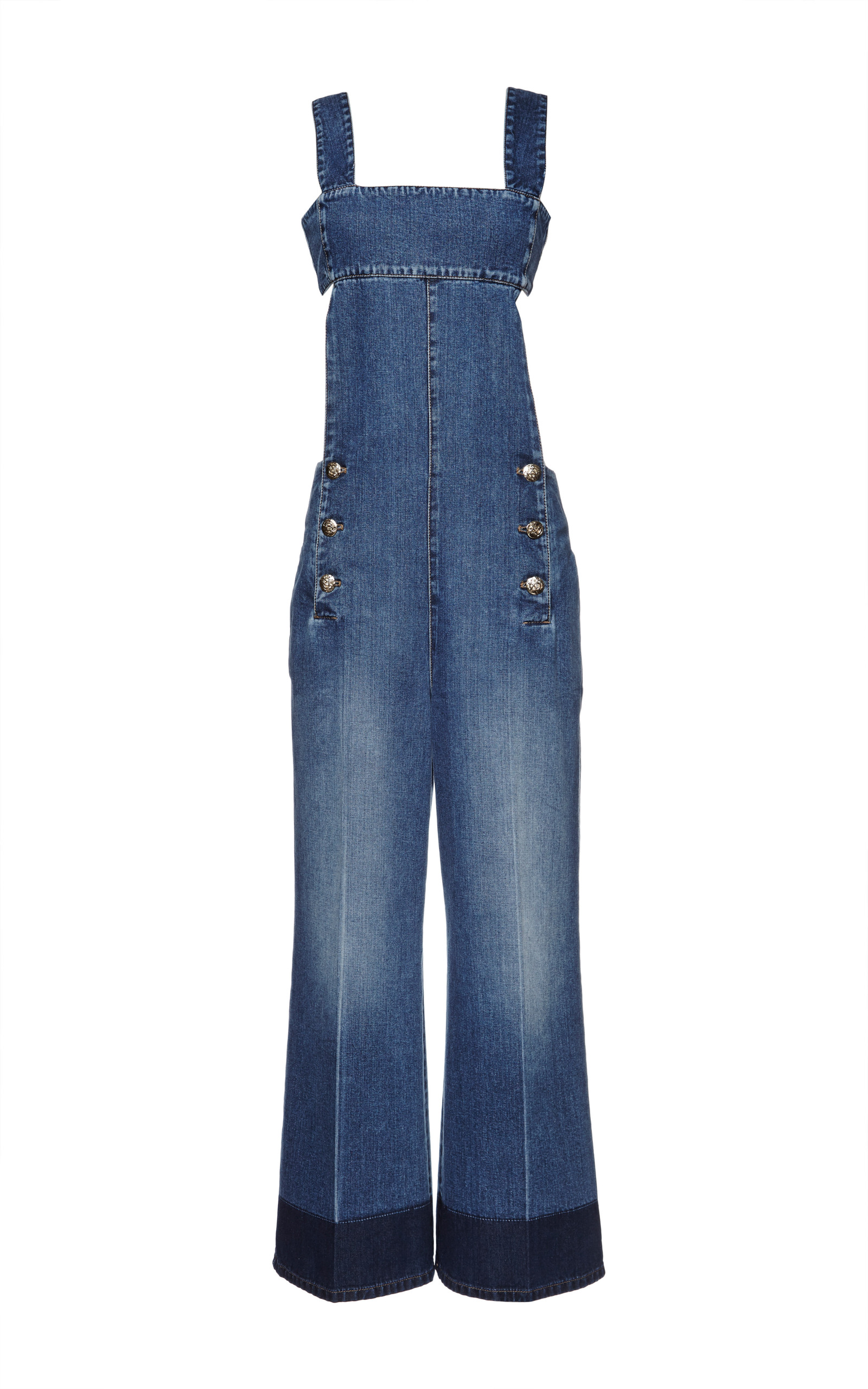 a5daf80f317 Sonia RykielBlue Washed Denim Jumpsuit. CLOSE. Loading. Loading. Loading.  FULL SCREEN. Click Product to Zoom