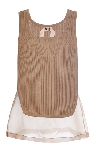 Medium no 21 nude vanessa knit vest