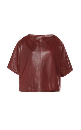 Medium isabel marant red sunny leather feza top in rust