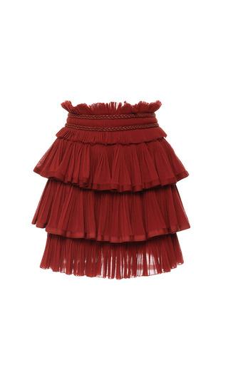 Medium isabel marant red cotton gauze goya skirt in rust