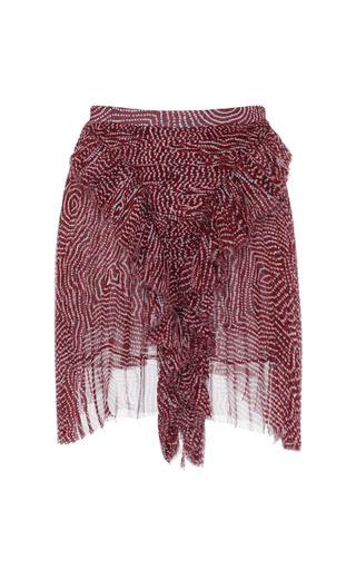 Medium isabel marant red pleated chiffon silk meg skirt in rust