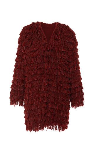 Medium isabel marant red summer fur abella coat in burnt red