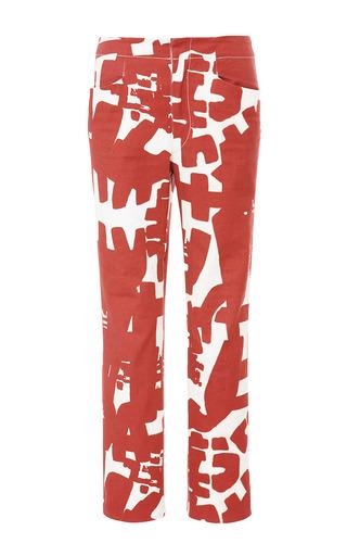 Medium isabel marant multi bold jeans kynn pant in burgundy ecru
