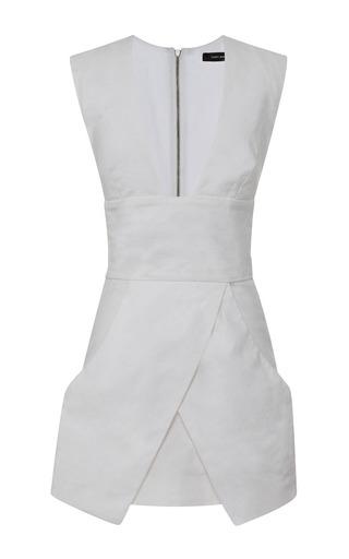 Medium isabel marant white chic linen stuff imba dress in white