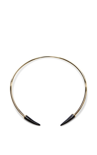 Medium isabel marant black horn necklace in black