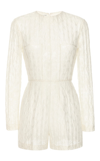 Medium emilia wickstead white white waves michelle short jumpsuit