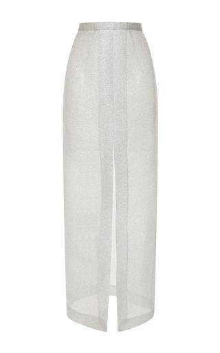 Medium emilia wickstead silver silver sparkles pencil skirt