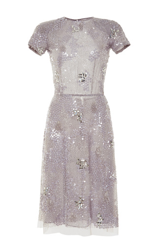 Medium naeem khan dark grey sequin dress