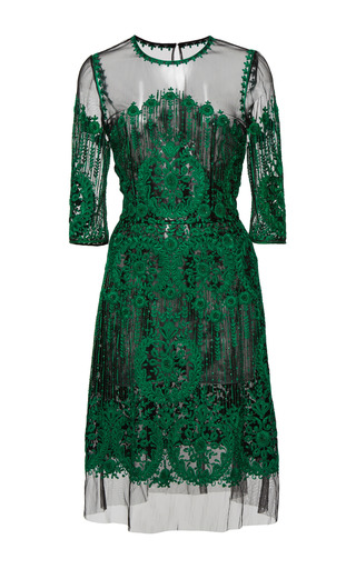 Medium naeem khan green embroidered dress