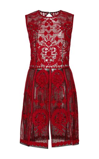 Medium naeem khan red embroidered panel dress