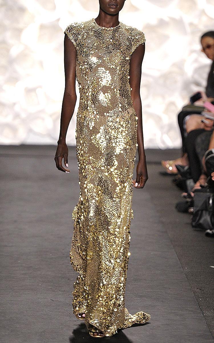 Gold Sequin Gown by Naeem Khan   Moda Operandi