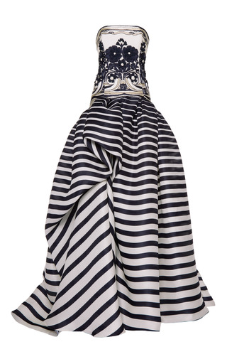 Medium naeem khan multi strapless ballgown