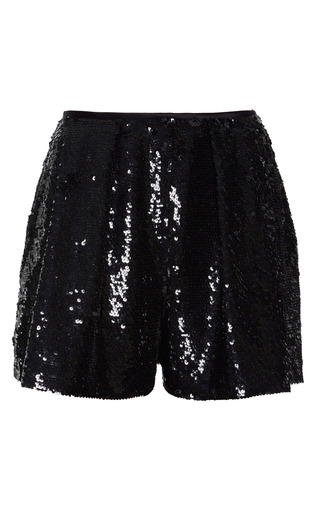 Medium naeem khan black sequin shorts