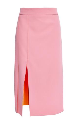Medium nina ricci pink rose mimosa double face crepe skirt