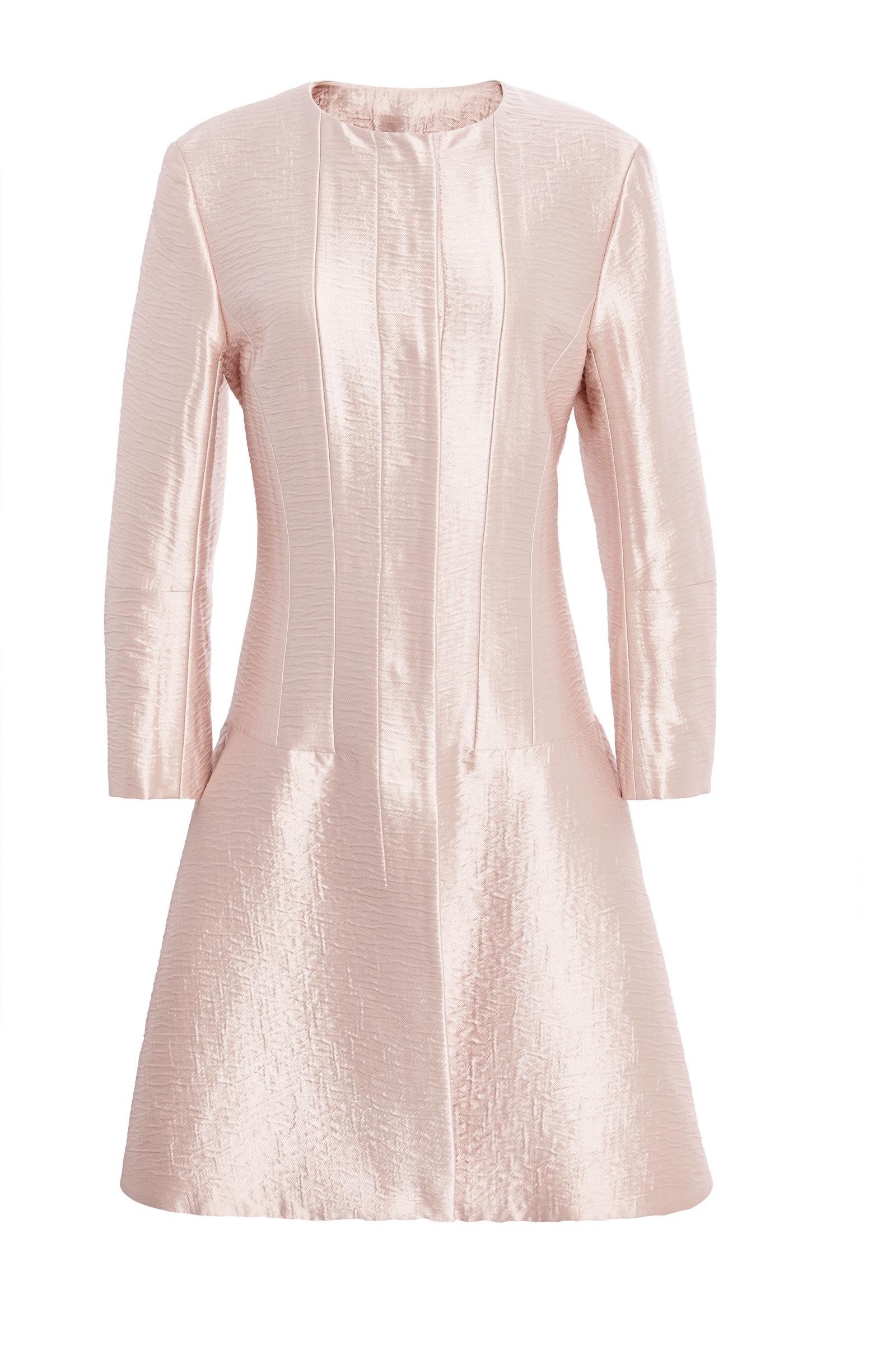 rose pale silk cloque coat by nina ricci moda operandi. Black Bedroom Furniture Sets. Home Design Ideas