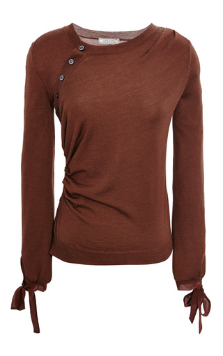 Medium nina ricci burgundy marron fonce merino sweater