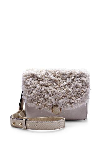 Medium isabel marant white chester hairy bag