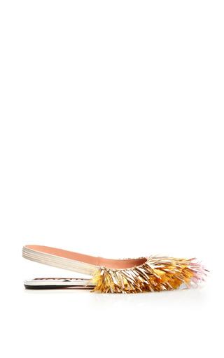 Medium rochas metallic pink tip tassel fringe slingback flat