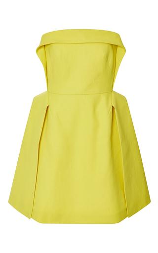Medium delpozo yellow double paper twill short dress 5
