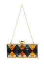 Levin Mosaic Perspex Clutch by KOTUR Now Available on Moda Operandi