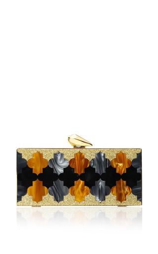 Medium kotur multi levin clutch in orange and blue 2