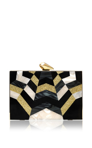 Medium kotur black merrick geometric clutch 2