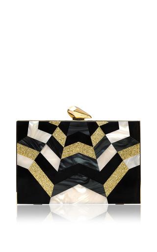 Medium kotur black merrick geometric clutch 2