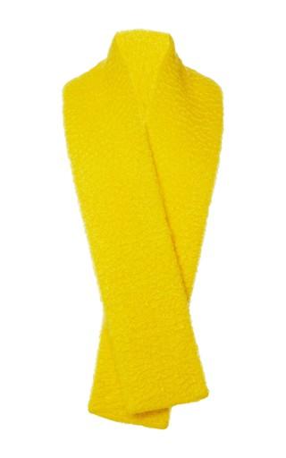 Medium delpozo yellow wavy mohair stole 2