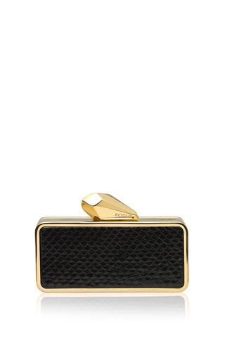 Medium kotur black getsmartbag snakeskin clutch in black 2